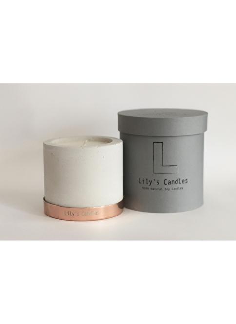 Lily's Candles Beton & Bakır Lavanta Doğal Mum Bakır